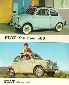Fiat Ad. US spec car with sealed beams