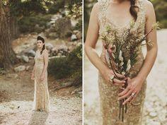 love this rad gold wedding dress