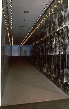 "Carnegie International Exhibition 1991 at Carnegie Museum of Art Pittsburgh: Christian Boltanski, ""Les Suisses Mortes"", installation view"