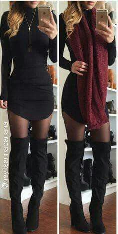 How to wear fall fashion outfits with casual style trends Komplette Outfits, Casual Outfits, Fashion Outfits, Womens Fashion, Night Outfits, Dress Fashion, Latex Fashion, Petite Fashion, Fall Winter Outfits