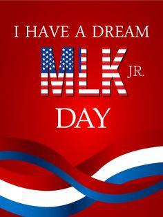MLK Day Greeting Card | Birthday & Greeting Cards by Davia