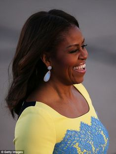 First Lady Michelle Obama arrives for a visit to London