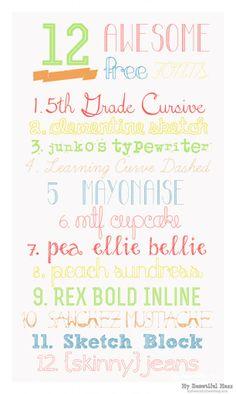 12 free fonts