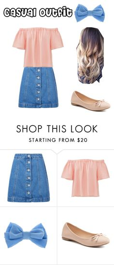 """""""Casual 2"""" by sykesc-1 ❤ liked on Polyvore featuring New Look, Rebecca Taylor, claire's and SO"""