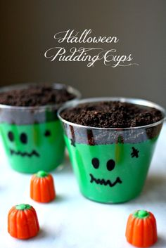 Could be another Tanner & Ari project...........Easy Halloween Pudding Cups - Simply Happenstance