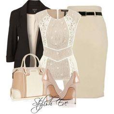 Elegant Pencil Skirt Outfit Idea