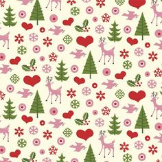 Pink Christmas Wrapping Paper | Sheets Of Retro Christmas Design Wrapping Paper | DotComGiftShop