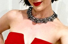 Eight reasons to wear statement necklaces. (Just in case you need convincing). Fashion Shoes, Fashion Outfits, Fashion Trends, Little Red Dress, Statement Necklaces, Style Guides, Just In Case, Lifestyle Blog