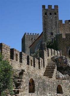 Óbidos castle.  Can you see the banners waving atop the castle walls,men at arms on the turrets, knights and their fair ladies...sigh