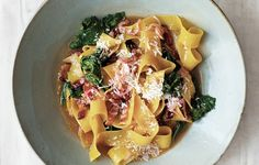 Potlikker Noodles with Mustard Greens  photo
