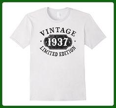 Mens 80 Years Old 80th B-day Birthday Gift 1937 Limited T-Shirt Medium White - Birthday shirts (*Amazon Partner-Link)