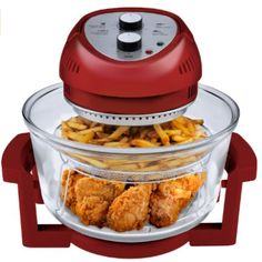 The Big Boss 16 Quart capacity Oil-Less Fryer allows you to make heart-healthy meals without the added calories that come with using a traditional deep fryer. The fryer's efficient design heats food quickly while retaining flavor and moist Oil Less Fryer, Best Air Fryers, Air Fryer Healthy, Cooking Gadgets, Kitchen Gadgets, Kitchen Appliances, Cooking Utensils, Small Appliances, Zucchini
