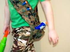 Kids Nerf Dart Camo Bandolier, Girl or boy Tactical Pocket sash dart holder with an extra pocket for a small dart gun or dart storage by LittleCreekMapleFarm on Etsy