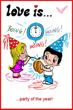 love is... ringing in the new year. Happy New year kim casali comics