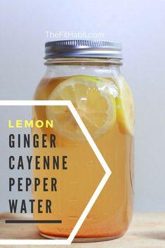 Zitronen-Ingwer-Cayenne-Pfeffer u. Kurkuma-Wasser-Rezept - Kara Maria Ananda - - Zitronen-Ingwer-Cayenne-Pfeffer u. Healthy Detox, Healthy Drinks, Easy Detox, Vegan Detox, Healthy Water, Milk Shakes, Cayenne Pepper Detox, Cayenne Pepper Recipes, Apple Cider