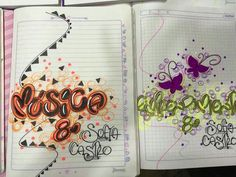 School Notebooks, Decorate Notebook, Journals, Diy And Crafts, Lettering, Drawings, Ideas, Decorated Notebooks, Cute Notebooks