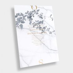 Marble + Vine Wedding Invitation / Carrara Vineyard / Gold Foil / Modern / Editorial / Neutral / Customizable / Design Your Own / #myownblissandbone
