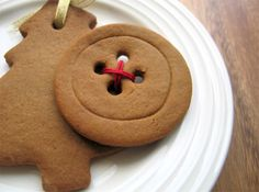 My gingerbread buttons