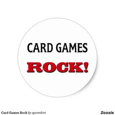 Card Games Rock Classic Round Sticker