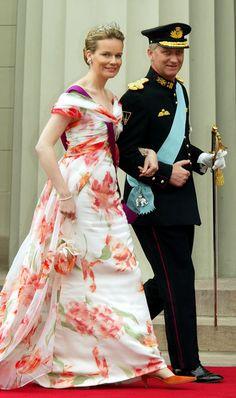 Les princes héritiers Philippe et Mathilde de Belgique ainsi que le prince Laurent et la princesse Claire, et la princesse Astrid avec Lorenz