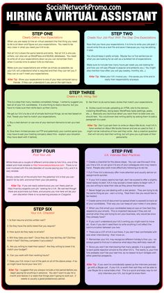 hiring a virtual assistant infographic