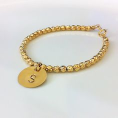 Gold+Filled+Beads+Bracelet+Personalized+by+MyPersonalizedJewel,+$55.00