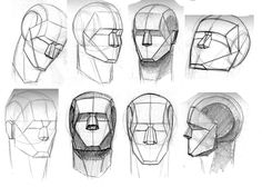 how to draw planes of the face step by step - Google Search