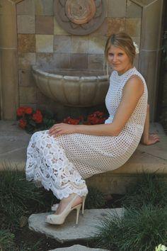 Crochet Vintage Wedding Dress