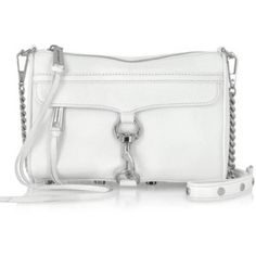 """HP✨Rebecca Minkoff White MAC Clutch Host pick on 1/14! Rebecca Minkoff white MAC clutch (comes with adjustable strap that converts it into a crossbody) with silver hardware. Brand new w/ tags and dustbag. When I purchased, didn't notice the small pink stain towards the top of the purse. I intend on going to a professional cleaners to remove said stain, I've posted a picture of it above. However, willing to negotiate and sell the bag for less than current listed price with the stain. 11"""" x 2""""…"""