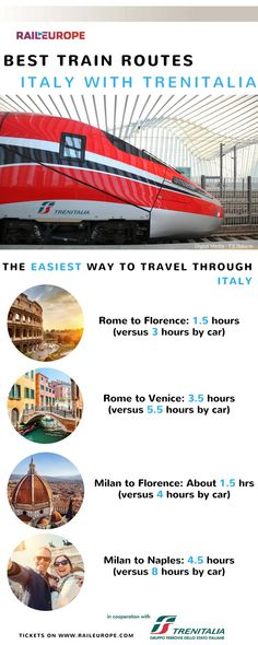 The train is the fastest, easiest, and most comfortable way to get through #Italy !