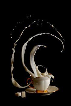 """Coffee Time"" Awesome photo! via Design Swan - photo/artwork by Egor N."