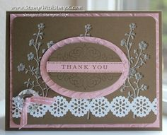 Faux Embossing Morning Meadow Thank You