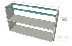 Simple bookshelf plans - attach the supports.