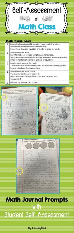 Student self-assessment is crucial to math education. Students model, explain, self-assess, and discuss with peers their math thinking. Made by Lindseyland. prompts for middle school Student Self Assessment, Math Assessment, Math Journal Prompts, Math Notebooks, Journal Ideas, Math Resources, Math Activities, Common Core Math Standards, Singapore Math