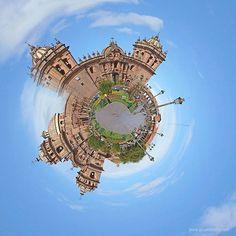 Cusco's main square - Plaza de Armas. Stereographic projection Stereographic Projection, Peru, Maine, Fair Grounds, Architecture, Turkey, Arquitetura, Architecture Design