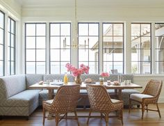 Dining Room Seating – Banquette or Upholstered Settee?