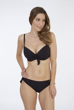 Jet Moulded Plunge Bikini Top & Pant | Black