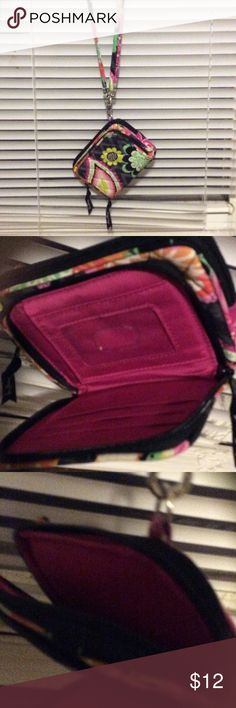 Vera Bradley wallet necklace / lanyard Very cute used a couple times great condition Vera Bradley Bags Wallets