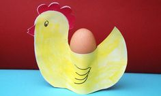 Easter crafts: How to make a hen egg cup holder