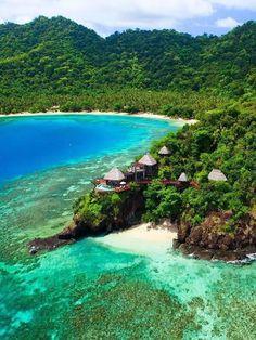 Laucala Island Resort, Taveuni, Fiji.. Lugar pelo qual ainda chegarei de helicoptero para relaxar nos meus finais de semana. Feliz em saber que existe um lugar assim! :)))