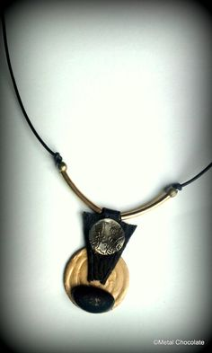 Golden Sun Tribal Necklace by MetalChocolate on Etsy