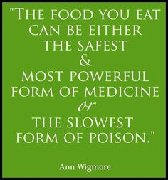 Food; medicine or poison?