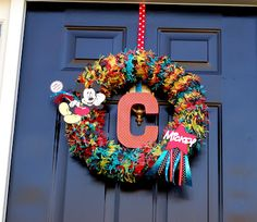 Life With Lulu and Junebug...And Carter, Too!: Carter's Mickey Mouse Birthday Party Project #2 - Mickey Mouse Wreath