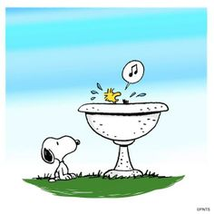 Summer fun with snoopy and woodstock.