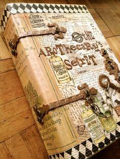 Diy altered books, altered boxes, altered art, diy old books, old b Bullet Journal Cover Ideas, Journal Covers, Book Journal, Art Journals, Notebook Covers, Journal Diary, Journal Cards, Handmade Journals, Handmade Books