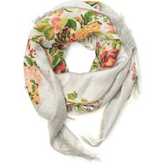 Stella McCartney Multicolor Floral Scarf ($500) ❤ liked on Polyvore