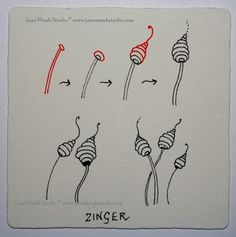 Zinger ~ Zentangle #tangle by #Zentangle
