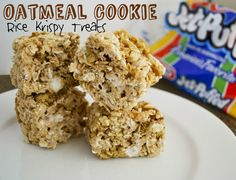 Oatmeal Cookie Rice Krispy Treats! For your New Years resolutions... ;) ...Mallow & Co