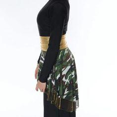 Vestuario danza con pandero guerra