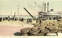 Antique UDB Postcard Sunday on the Levee New by TheOldBarnDoor